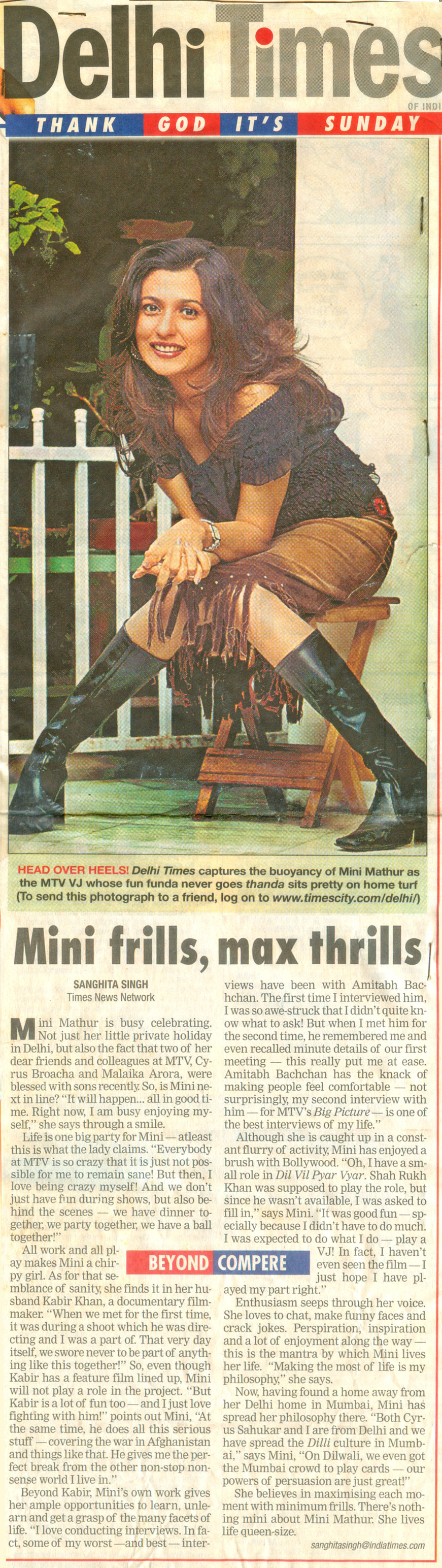 Mini Frills Max Thrills-Delhi-times-MTV