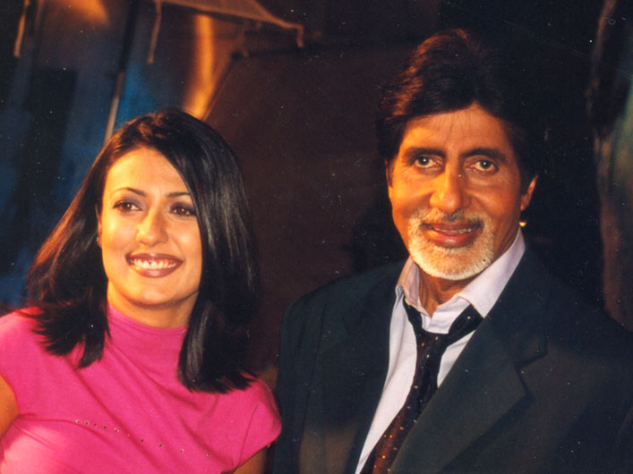 Mini Mathur with Amitabh Bachchan